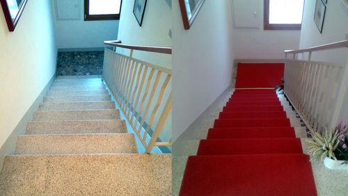 Installazione passatoie su scale cristina carpets for Passatoie per scale legno